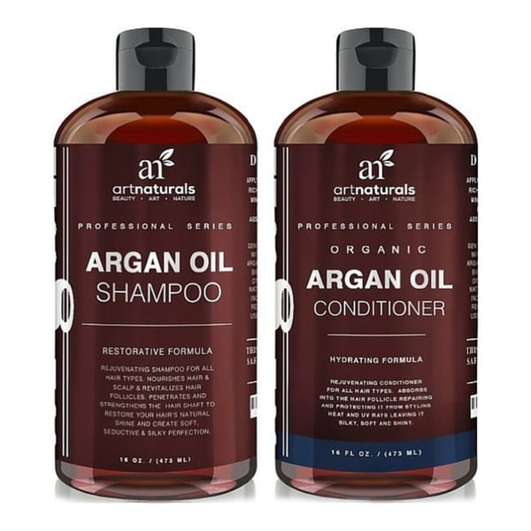 Art Naturals Organic Moroccan Argan Oil 16-ounce Shampoo and Conditioner Set