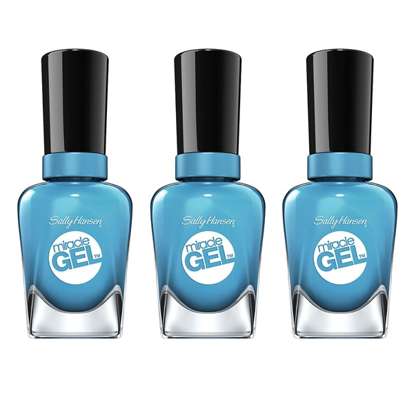 Sally Hansen Miracle Gel Rhythm & Blue Nail Polish (Pack of 3)