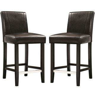 Ramiro Black Upholstered Counter Height Stools (Set of 2)