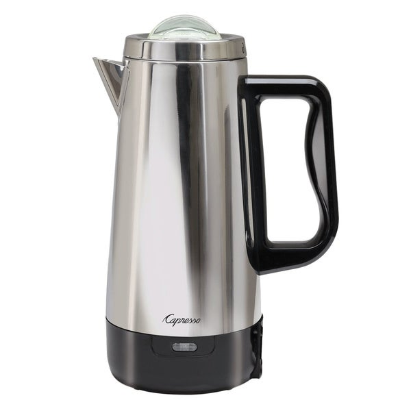 Capresso Perk Stainless Steel 12-Cup Coffee Percolator - 18819693 - Overstock.com Shopping ...