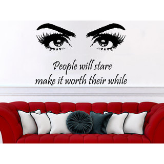 People will stare make it worth their while Quote Beauty Salon Wall Art Sticker Decal