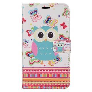 Insten Colorful Owl Leather Case Cover with Stand/ Wallet Flap Pouch/ PhotoDisplay For LG Destiny/ Leon/ Power/ Risio/ Tribute 2