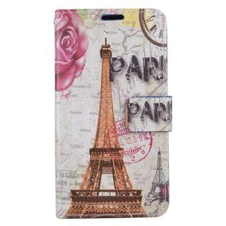 Insten Colorful Flowers Leather Case Cover with Stand/ Wallet Flap Pouch/ Photo Display For LG K7