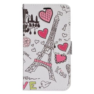 Insten Colorful Hearts Leather Case Cover with Stand/ Wallet Flap Pouch/ Photo Display For LG G Stylo