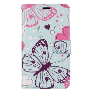 Insten Colorful Butterfly Leather Case Cover with Stand/ Wallet Flap Pouch/ Photo Display For LG G Stylo