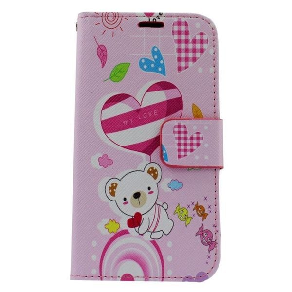 Insten Colorful Bear Leather Case Cover with Stand/ Wallet Flap Pouch/ Photo Display For Samsung Galaxy Core Prime