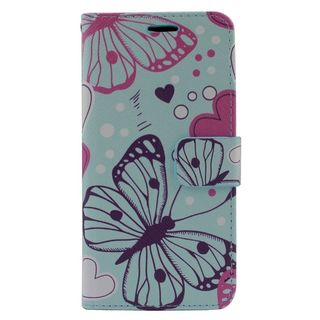 Insten Colorful Butterfly Leather Case Cover with Stand/ Wallet Flap Pouch/ Photo Display For Samsung Galaxy Grand Prime