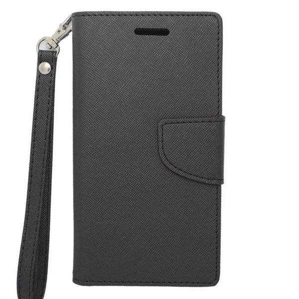 Insten Leather Case Cover Lanyard with Stand/ Wallet Flap Pouch/ Photo Display For Kyocera Hydro Icon 6730/ Hydro Life 6530