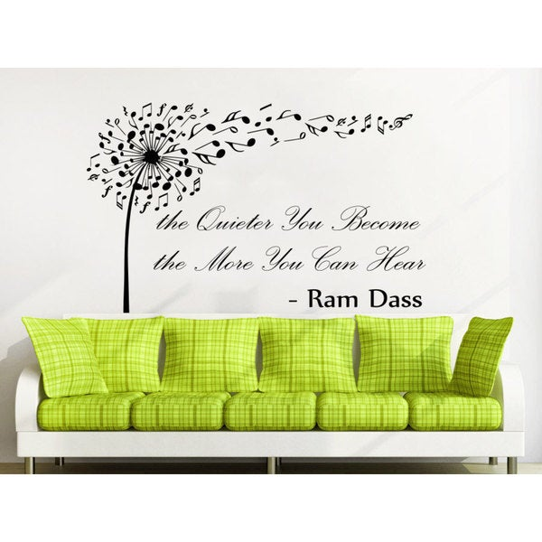 Quote Ram Dass the Quieter You Become the More Wall Art Sticker Decal