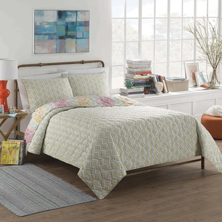 Vue Shoshana Cotton Reversible 3-piece Quilt Set