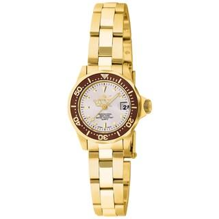 Invicta Women's 11444 Pro Diver Quartz 3 Hand White Dial Watch