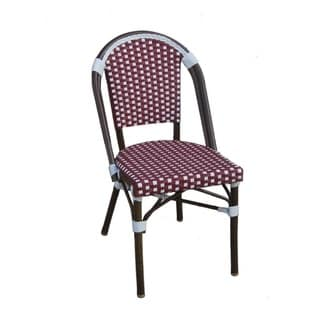 TIAB Red and White Aluminum Cafe Bistro Chair