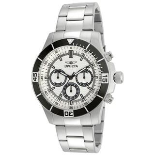 Invicta Men's 12841 Specialty Quartz Chronograph Silver Dial Watch