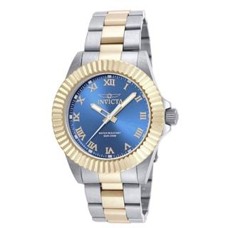 Invicta Men's 16742 Pro Diver Quartz 3 Hand Blue Dial Watch