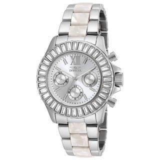 Invicta Women's 18867 Angel Quartz Chronograph Silver Dial Watch
