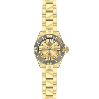 Invicta Women's 19822 Pro Diver Quartz 3 Hand Gold Dial Watch