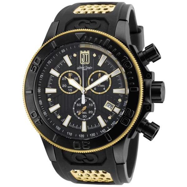 Invicta Men's 19577 Jason Taylor Quartz Chronograph Black Dial Watch 18913387