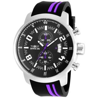 Invicta Men's 20219 S1 Rally Quartz 3 Hand Black Dial Watch