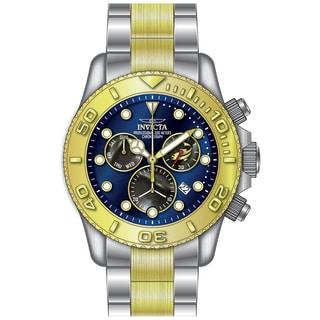 Invicta Men's 20346 Pro Diver Quartz Chronograph Black, Blue Dial Watch