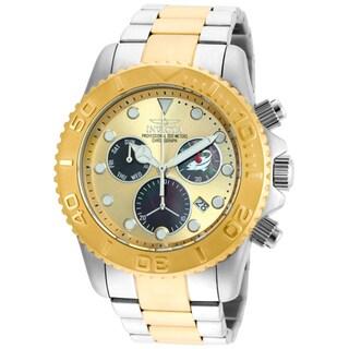 Invicta Men's 20348 Pro Diver Quartz Chronograph Black, Gold Dial Watch