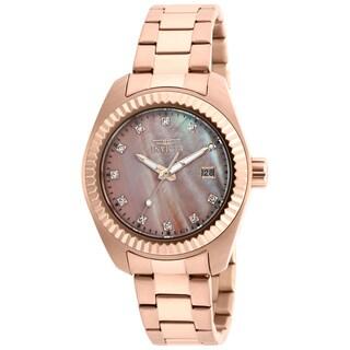 Invicta Women's 20353 Specialty Quartz 3 Hand Rose Gold Dial Watch