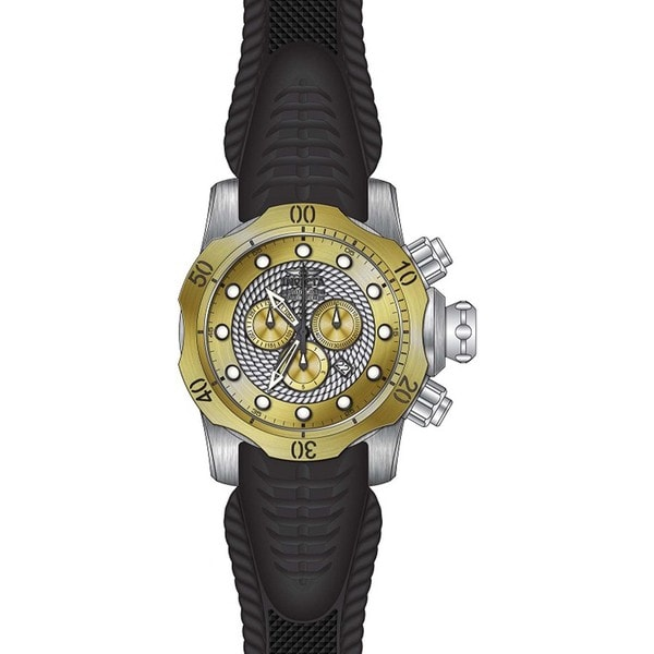 Invicta Men's 20441 Venom Quartz Chronograph Silver, Gold Dial Watch