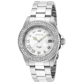 Invicta Women's 20502 Angel Quartz 3 Hand White Dial Watch