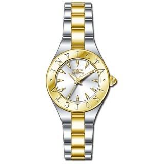Invicta Women's 21745 Wildflower Quartz 3 Hand Silver, Gold Dial Watch
