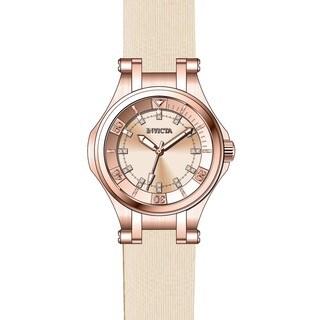 Invicta Women's 21761 Wildflower Quartz 3 Hand Rose Gold Dial Watch
