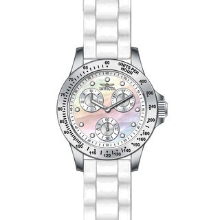 Invicta Women's 21972 Speedway Quartz Chronograph White Dial Watch