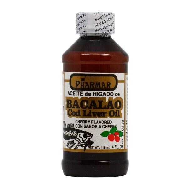 Aceite de Higado de Bacalao 4-ounce Cherry Cod Liver Oil