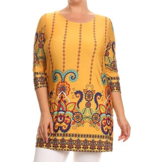 MOA Collection Women's Mustard Plus Size Tunic