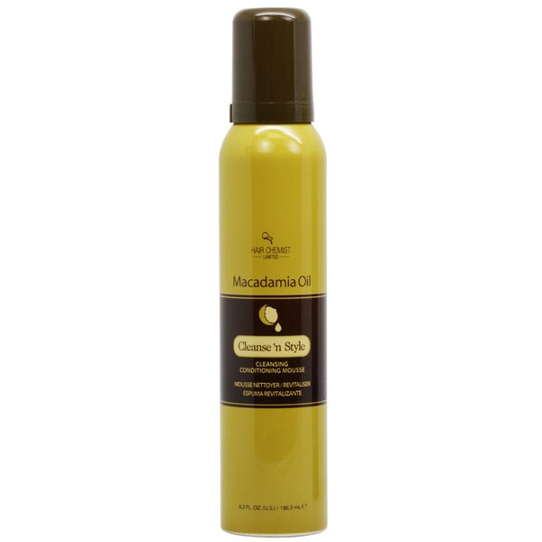 Hair Chemist Macadamia Oil Cleanse and Style Conditioning 6.3-ounce Mousse