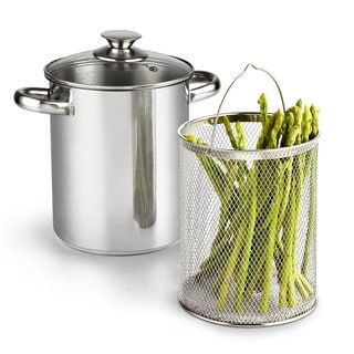 Cook N Home Stainless Steel 3-piece 4-quart Asparagus Vegetable Steamer Pot