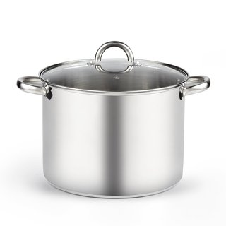 Cook N Home Stainless Steel 12-quart High Stockpot With Lid