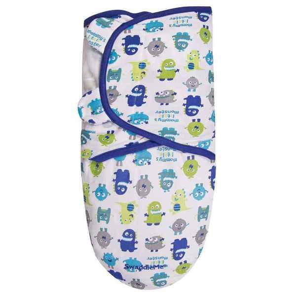 Summer Infant SwaddleMe Blue Cotton Monster-themed Swaddle Blanket