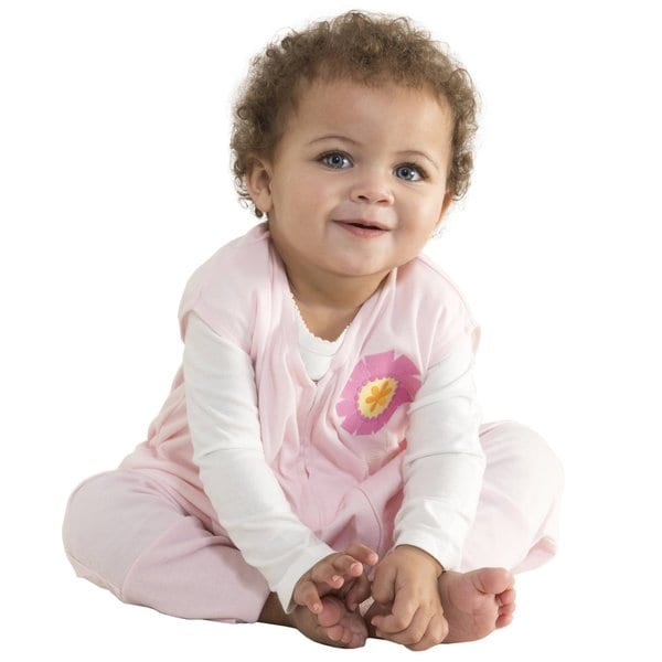 Halo Early Walker Lightweight Polyester Pink Flower SleepSack