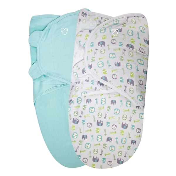 Summer Infant Elephant Pebble Organic 2-pack Original SwaddleMe Infant Wraps