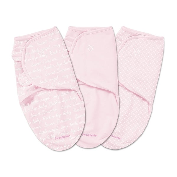 Summer Infant SwaddleMe Pink Cotton Cursive Original Blankets (Pack of 3)