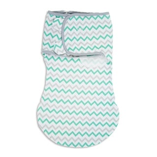 Summer Infant's Teal and Grey Cotton SwaddleMe WrapSack