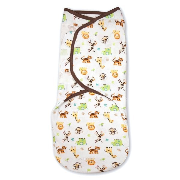 Summer Infant SwaddleMe Multi-color Cotton Kiddopotamus Graphic Jungle Large Blanket