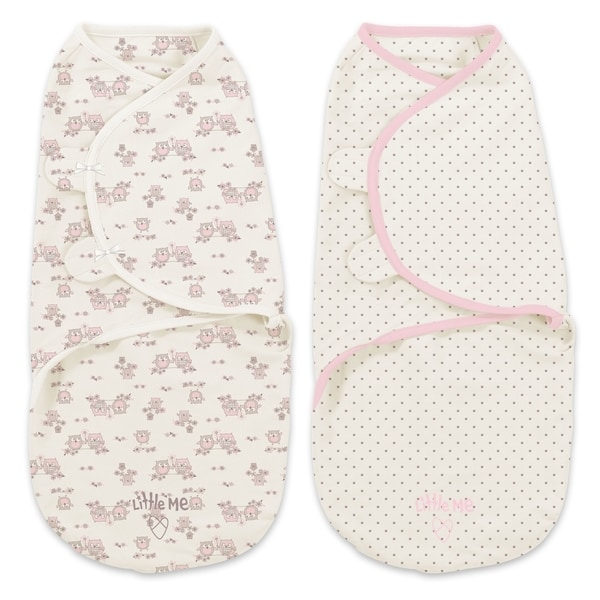 Summer Infant Little Me Multicolor Cotton Sweet Owls Swaddle (Set of 2)