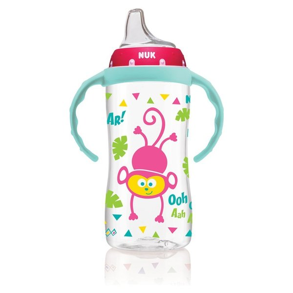 NUK Jungle Designs Multicolor Plastic Large 10-ounce Learner Cup with Handles 18916782