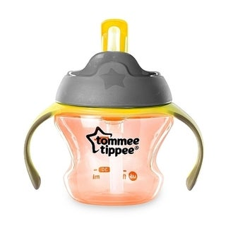 Tommee Tippee Orange 5-ounce First Straw Transition Cup
