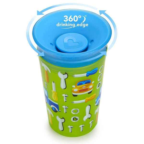 Munchkin Miracle Cup Green Car 9-ounce Plastic Sippy Cup 18916807