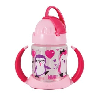 NUK Pink Plastic 5-ounce Straw Learner Cup