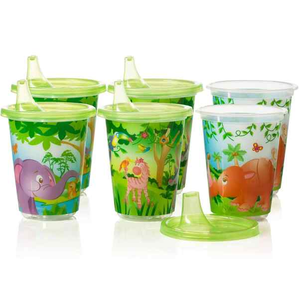 Evenflo Zoo Friends Plastic 10-ounce Convenience Sippy Cups (Pack of 6) 18916918