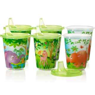 Evenflo Zoo Friends Plastic 10-ounce Convenience Sippy Cups (Pack of 6)
