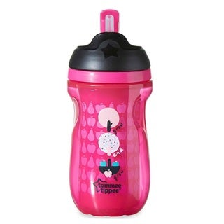 Tommee Tippee Pink 9-ounce Insulated Straw Tumbler