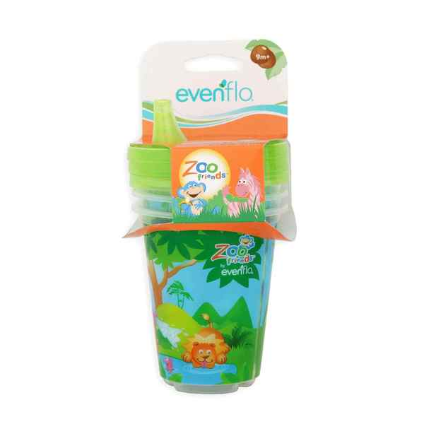 Evenflo Zoo Friends Plastic 10-ounce Convenient Sippy Cups (Pack of 3) 18916920